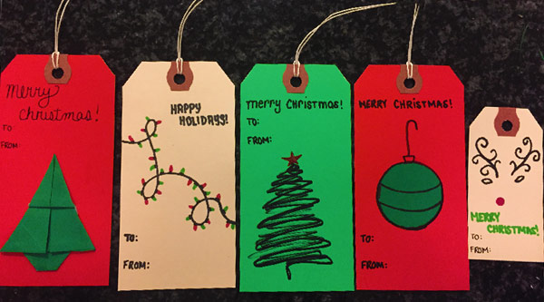 DIY Holiday Gift Tags by Manhattan Wardrobe Supply
