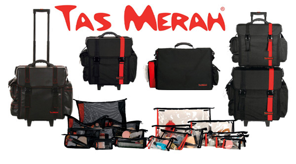 Tas Merah Cosmetic Bags by MWS Pro Beauty