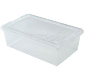 Closet Solutions Iris Clear Storage Box w/ Lid by Manhattan Wardrobe Supply