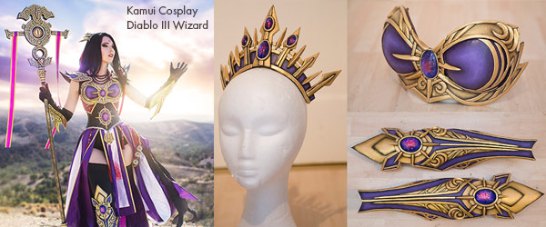Worbla Kamui Cosplay Diablo III Wizard by Manhattan Wardrobe Supply