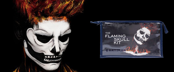 Kryolan Flaming Skull Kit Halloween Makeup And Character Kits by MWS Pro Beauty