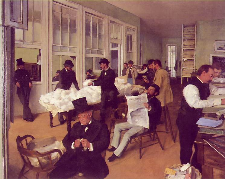 Edgar Degas painting of his uncle's New Orleans cotton firm (1873)