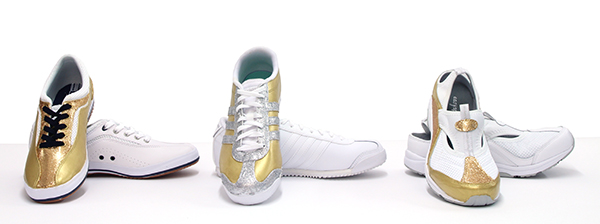Three Gold Shoes Small
