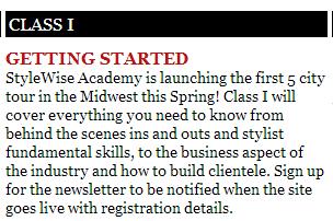 Manhattan Wardrobe Supply sponsors Stylewise Academy
