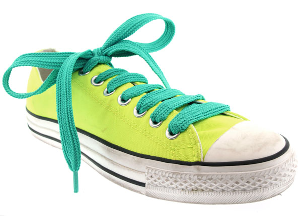 Aqua Green Fat shoe laces by Manhattan Wardrobe Supply