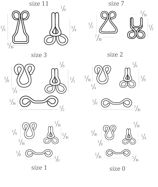 Dritz Hooks And Eyes Sizes 1 And 2