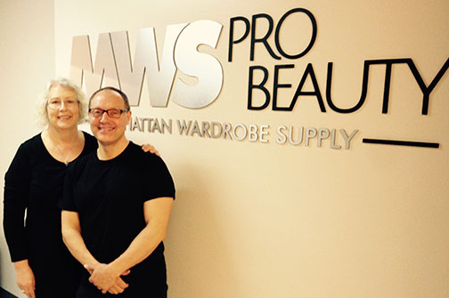 Cherry Kilbourne-Kimpton and Tommy Boyer at MWS Pro Beauty