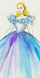 Cinderella Sketch by Manhattan Wardrobe Supply