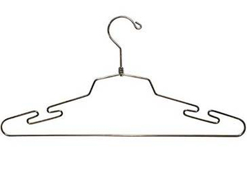 Chrome Notched Lingerie Hanger by Manhattan Wardrobe Supply