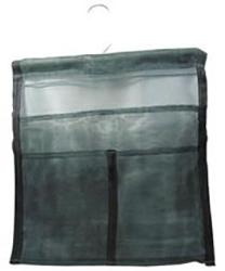 Back to school Premium Green Mesh Hanging Locker Bag With Bar by Manhattan Wardrobe Supply