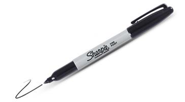 Back to School Sharpie Industrial Fine - Black (box of 12) by Manhattan Wardrobe Supply