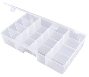 Back to School Flambeau Tuff Tainer 7 Compartment Box w/ Movable Dividers and Detachable Lid by Manhattan Wardrobe Supply