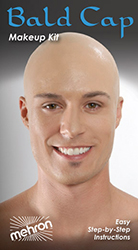 Mehron Bald Cap Premium Character Kit for Halloween by MWS Pro Beauty