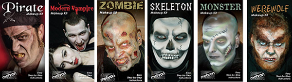 Mehron Character Kits for Halloween by MWS Pro Beauty