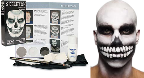 Mehron Skeleton Character Kit for Halloween by MWS Pro Beauty