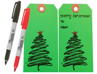 DIY Holiday Gift Tags by Manhattan Wardrobe Supply