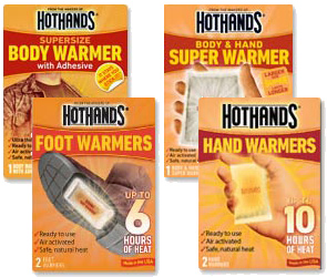 Winter Essentials Hot Hands from Manhattan Wardrobe Supply