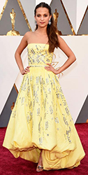 2016 Oscars Alicia Vikander by Manhattan Wardrobe Supply