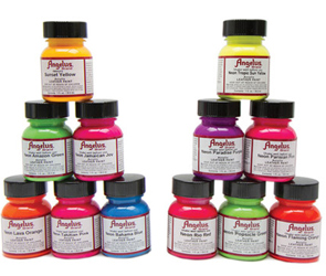 Do-It-Yourself Angelus Neon Leather Paint by Manhattan Wardrobe Supply