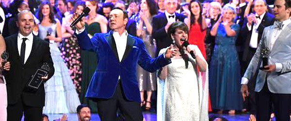 Patti Lapone and Kevin Spacey The Tony Awards by Manhattan Wardrobe Supply