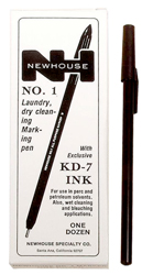 10 Great Summer Camp Essentials Newhouse KD-7 Ink Laundry Pen - Black by Manhattan Wardrobe Supply