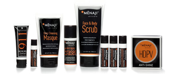 The Complete Menaji Men's Skincare line by MWS Pro Beauty