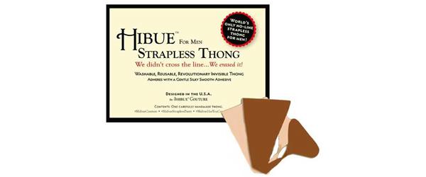 Hibue For Men Strapless Thong Avoiding Wardrobe Malfunctions by Manhattan Wardrobe Supply