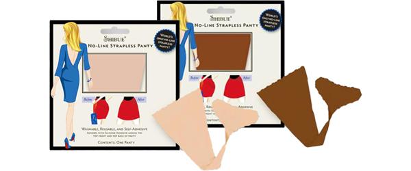 Shibue No-Line Strapless Panty Avoiding Wardrobe Malfunctions by Manhattan Wardrobe Supply