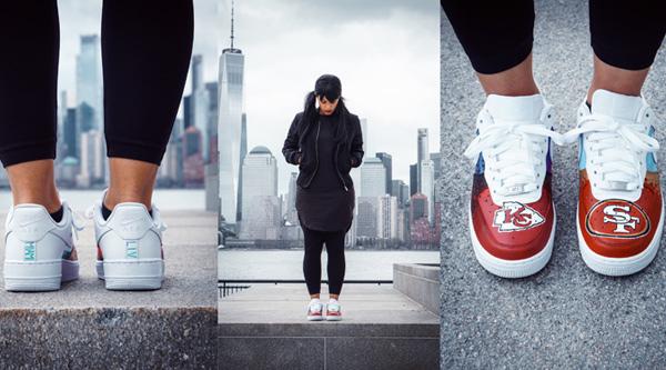 Kansas City Chiefs Custom Sneakers by Manhattan Wardrobe Supply